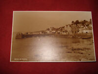 VINTAGE CORNWALL: ST MAWES Boats in harbour RP Sepia