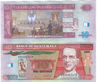 GUATEMALA 10 QUETZALES 2008 PICK NEW UNC