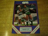 1988/89 LEAGUE CUP 2ND ROUND - QUEENS PARK RANGERS v CARDIFF CITY