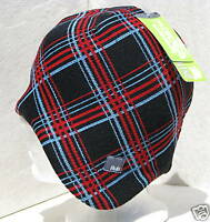 BULA UNISEX NAVY/RED/BLUE PLAID DIPPER SKI SNOWBOARD WINTER BEANIE HAT