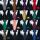 New Classic Black Red Blue Green Mens 100% Silk Jacquard Woven Tie Set Hi-Tie