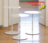 TxT Tavolino di servizio Vanity in acciaio verniciato di BONALDO h 44 cm e diame