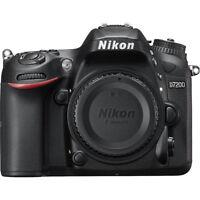 Nikon D7200 DX 24.2MP SLR Body w/ WiFi NFC - Mfg Refurb - Choice Bundle