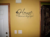 Home where the story begins vinyl wall  decal words