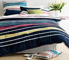Paxton & Wiggin SPECTRUM Multi Stripe KING Size Quilt Doona Cover Set