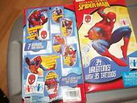 New in Box of 34 The Amazing Spider-Man Valentines Day Cards w Tattoos
