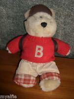 2002 ~ Starbucks Bearista  Plush School Boy Bear VGC
