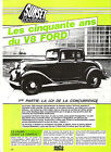 FORD V8 - 1932 - 1° PARTIE / 1982 ARTICLE PRESSE REPORTAGE COUPURE