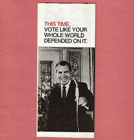 1968 Richard NIXON Political campaign Brochure old Spirro Agnew Presidential 68