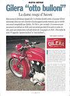 GILERA 500 VTGS - 1937 / 1995 ESSAI ARTICLE PRESSE REPORTAGE COUPURE MAGAZINE