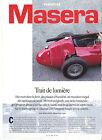 MASERATI 250 F / 1995 ARTICLE PRESSE REPORTAGE COUPURE MAGAZINE