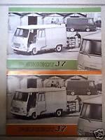 PEUGEOT J 7 - 1971 + 1972 // catalogue brochure prospekt dépliant catalog lot 2