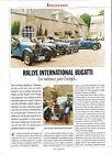 RALLYE INTERNATIONAL BUGATTI / 1993 ARTICLE PRESSE REPORTAGE COUPURE MAGAZINE
