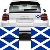 4x Scotland Flag Car Van Stickers (GB Scottish Bike Decal Graphics)