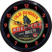 """Old Dobbin Ale Koehlers Erie PA Beer Tray Wall Clock Horse Lager Man Cave 10"""""""