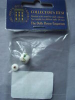 1:12th scale dolls house emporium white/green jar with lid----brand new