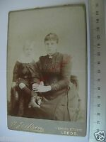 OLD CABINET D1 PHOTO CDV By H Jackson Leeds Victorian Lady & Young Child 044