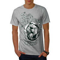 Wellcoda Enormous Grizzly Bear Mens T-shirt, Totally Graphic Design Printed Tee