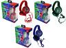 PJ Masks Character Childrens Kids Padded Stereo Headphones Audio 3.5mm Jack Plug