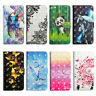 Printed Walle Card S lot Stand PU Leather Soft TPU Flip Protector Case Cover
