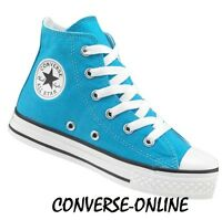 KIDS Boy's Girls CONVERSE All Star VIVID BLUE HIGH TOP Trainers Boots SIZE UK 10