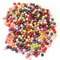 500x Mixed Round  4mm Plastic Pearl Spacer Loose Beads Jewelry Finding DIY new