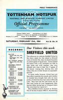 63/64 Tottenham v Sheffield United