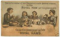 1880s Charles Counselmans Royal Hams Trade Card