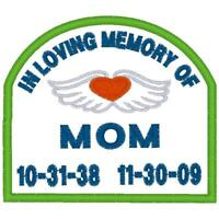 CUSTOM EMBROIDERED  MOTORCYCLE   MEMORY  PATCH