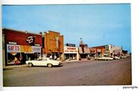 Mackinaw City MI Street View Old Cars Postcard