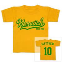 NORWICH Football Personalised Boys/Girls T-Shirt