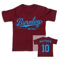 BURNLEY Football Personalised Boys/Girls T-Shirt