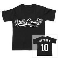 NOTTS COUNTY Football Personalised Boys/Girls T-Shirt