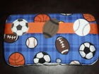 Blue Sports Theme Baby Wipes Case