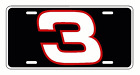 DALE EARNHARDT #3 License Plate decal racing nascar