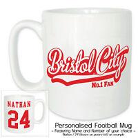 BRISTOL CITY Personalised Football Ceramic Mug-Gift Box