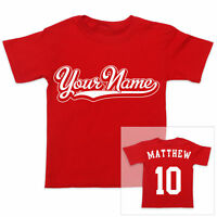 PERSONALISED NAME 2-Sided Sports Boys Girls T-Shirt