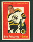 1959 60 TOPPS HOCKEY 39 BOB ARMSTRONG BOSTON BRUINS EX