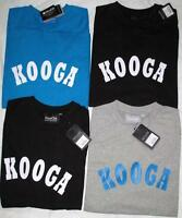 Kooga cotton rugby crew neck print short sleeved t shirt black/navy/white/grey