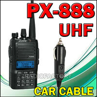 Puxing PX-888 UHF 400–480 MHz Radio + Earpiece+carcable