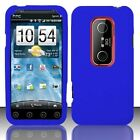 Dr Blue Rubber Silicone SKIN Case Cover for HTC EVO 3D