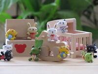 2 x Rabbit Frog Cat Bunny Animal wooden fridge magnet