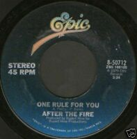 "AFTER THE FIRE one rule for you usa epic 7"" WS EX/"