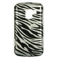 Silver Zebra HARD Protector Case Snap on Phone Cover Verizon LG Enlighten VS700