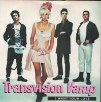 """TRANSVISION VAMP i want your love 7"""" PS EX/EX"""