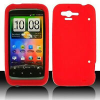 Red Rubber SILICONE Soft Gel Skin Case Cover for Verizon HTC Rhyme