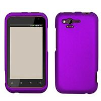 Rubberized Dark Purple HARD Protector Case Snap on Phone Cover Verizon HTC Rhyme
