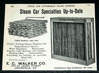 1906 OLD MAGAZINE PRINT AD, STEAM CAR SPECIALITIES, FLASH BOILER & ENGINES!