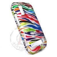 Silver Rainbow Zebra HARD Protector Case Snap Phone Cover for Motorola Photon 4G