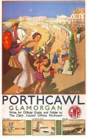 1930's GWR Porthcawl Railway A3 Poster Reprint
